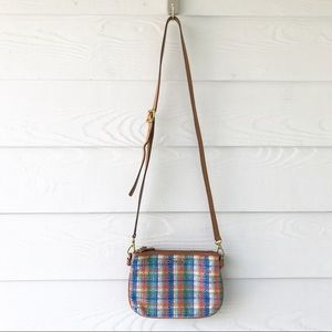 Fossil Plaid Tweed Crossbody Purse